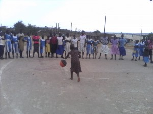 In two weeks the new basketballs should arrive via our friends from Children's Heritage Foundation
